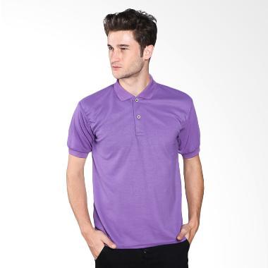 VM Basic Kaos Polos Polo Shirt - Ungu