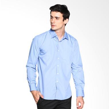 VM Polos Panjang Slimfit Kemeja Pria - Soft Blue