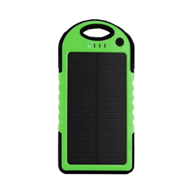 Wanky Solar Cell Slim Body Hijau Powerbank [5000 mAh]
