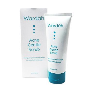 Wardah Acne Gentle Scrub 2 PIECES  Sabun Wajah [60 mL]