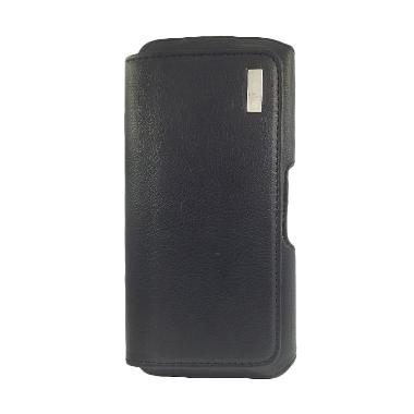 Wellcomm Universal KFA Leather Hitam Casing for Smartphone 5.5 Inch