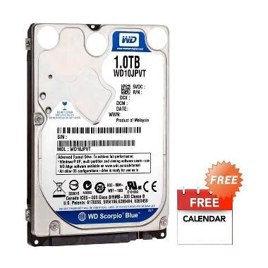 WD Scorpio Blue Harddisk Internal [1 TB/2.5 Inch] + Kalender