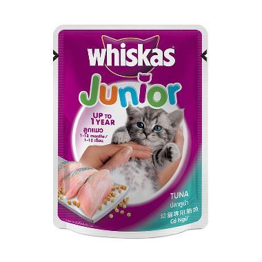 harga Cleine Tadita Petshop - Whiskas Junior Kitten Tuna [85 g] Blibli.com