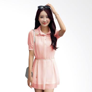 White Lotus Chiffon Summer 217 Dress - Pink