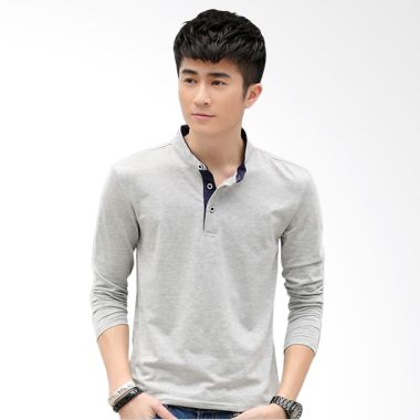 Upstyle Man Long sleeve 101 Gray Kaos Pria