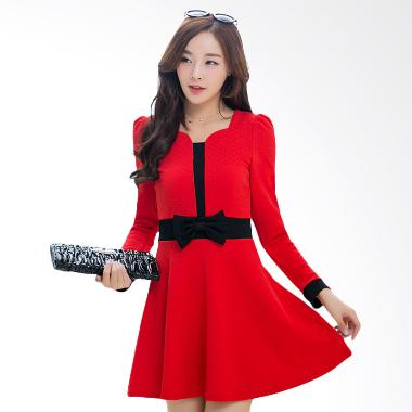 White Lotus Autumn 216 Dress - Red