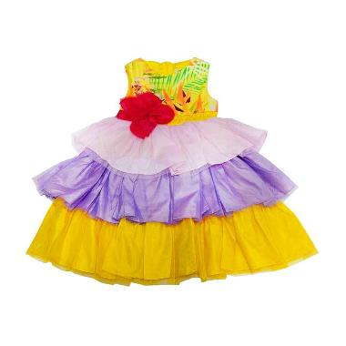 Wonderland Tutu Rainbow Dress Anak - Kuning