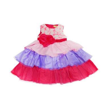 Wonderland Tutu Rainbow Dress Anak - Pink