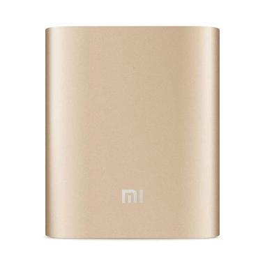 Powerbank Xiaomi [10400 mAh] With Kabel Data - Gold [10400mAh 2USB]