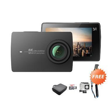 Jual xiaomi yi 2 4k action cam black free housing for Free internet cam