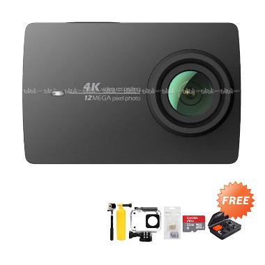 Xiaomi Yi 4K Mark II-Ver.2 Internat ... Hitam + Free Paket Hadiah