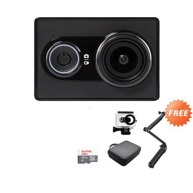 Xiaomi Yi International  Action Cam - Black [Paket Aksi Lengkap 10]