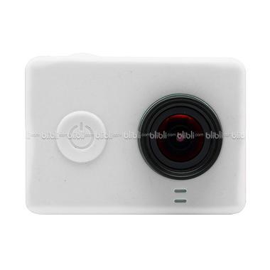 Xiaomi Yi Putih Silicone Case and Lens Cap
