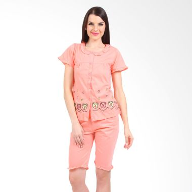 You've Sasha Bear Sleepwear Set Pink L