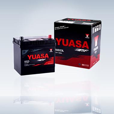 Yuasa 55D23L-MF Aki Mobil           ...