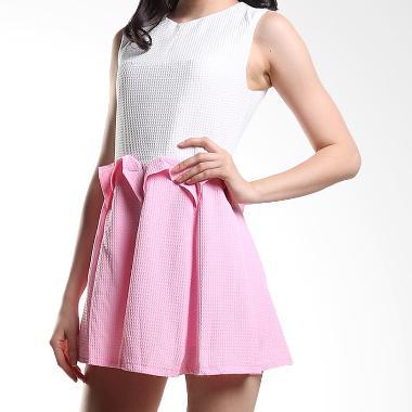Yuka Fashion 2015195 Kaos Baju Wanita Import Korea Dress - Putih