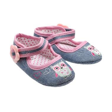 Zara Baby Owl Denim Shoes Sepatu Bayi