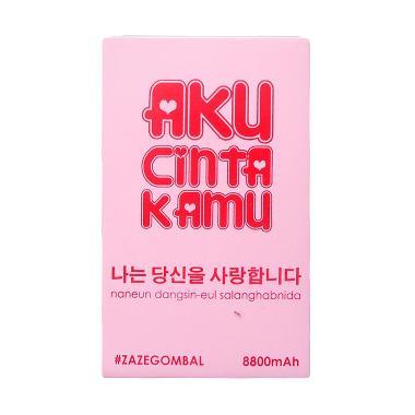 Jual ZazeTech #Zazegombal Aku Cinta Kamu Powerbank [8800 mAh/ Edisi Korea] Harga Rp 100000. Beli Sekarang dan Dapatkan Diskonnya.