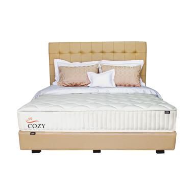 Zees Cozy Kasur Spring Bed [120 x 200 cm] + Free Divan + Headboard