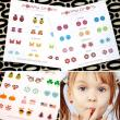 PoppyDrops Pierce Free Earring Glitter Collection Tato Temporer