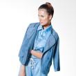 Agree To Shop Lean Denim Jacket Dark Blue