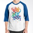 Ordinal Raglan Travel Quotes 03 Putih Biru Kaos Pria