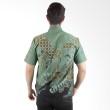 Batik Begawan Lengan Pendek Hijau 004