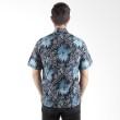 Batik Begawan Lengan Pendek Pola Biru 001