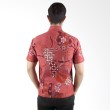 Batik Begawan Modern Lengan Pendek Merah 013