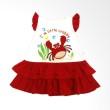 Tatami Rok A-line susun I'm LIttle Craby - Merah