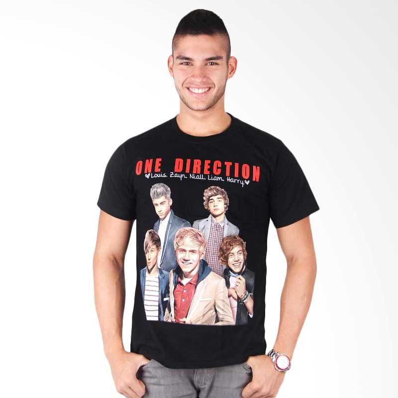 Red One Direction Nama Hitam