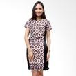 Batik Distro Dress Leher Bulat Jarik Putih B9904
