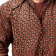 Batik Distro Hoodie T957 Coklat Jaket Pria