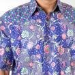 Batik Distro K6947 Biru Kemeja Pria