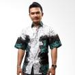 Batik Distro Kemeja Batik Motif Gurita Cyan K5829