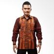 Batik Distro Kemeja Batik Panjang Motif Gelap K5943