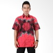 Batik Distro Kemeja Pendek Gurita Bledak Merah K6164