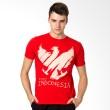 Be Proud of Indonesia Garuda Chalkboard Merah Kaos Pria