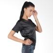Blaize Silk Satin Blouse Black