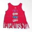 Children Place Baby Pink Fringe Baju Atasan Anak Perempuan