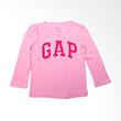 GAP Logo Tee Pink Atasan Anak Perempuan