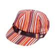 GOMAN Stripes Hat Stripes Orange Black