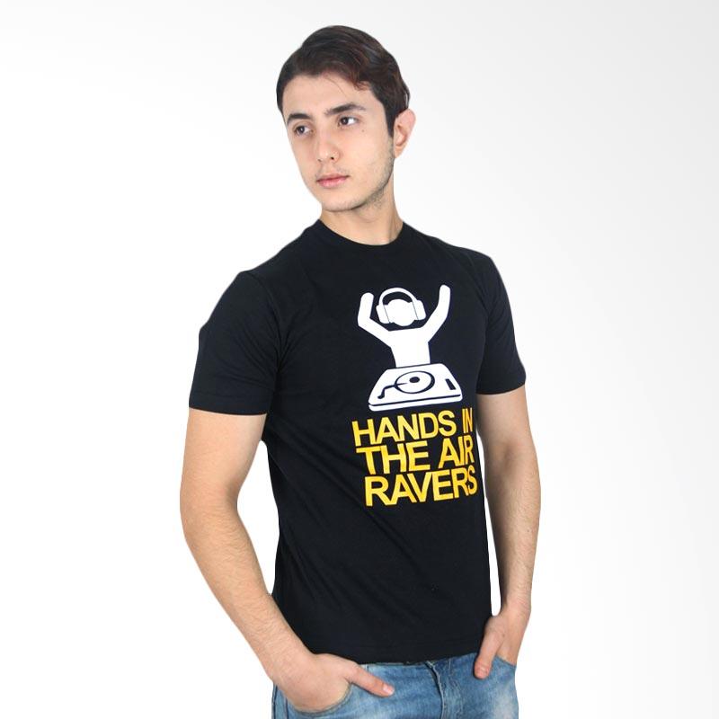 UrbanCo T-Shirt DJ Hands In The Air Ravers Black