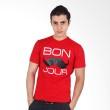 UrbanCo T-Shirt Mustache 7 Red