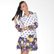 Carte Dress Polkadot Long Sleeve Purple Yellow with Belt