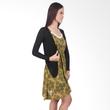 Carte Ethnic Yellow Dress with Cardigan