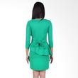 Carte Green Sleeved Peplum Dress