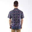 Columbus Batik Katun Pendek 9659 Biru - Kemeja Pria