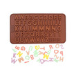 Cooks Habit Silicone Mould Letters Brown Cetakan Kue