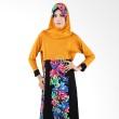 Diyaz Kayla Hitam Kuning Dress Muslim